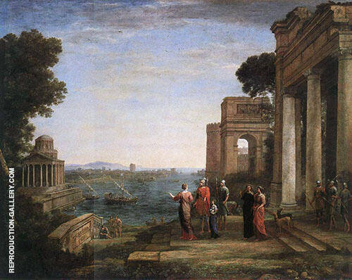 Aeneas Farewell to Dido in Carthago Painting By Claude Lorrain