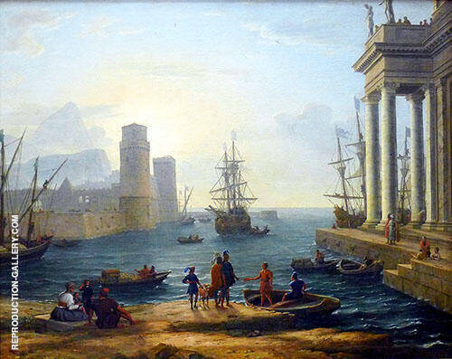 Embarkation of Ulysses 1646 Painting By Claude Lorrain