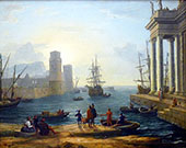 Embarkation of Ulysses 1646 By Claude Lorrain