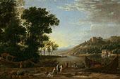 Landscape with Merchants 1630 By Claude Lorrain