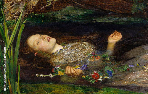 Ophelia detail 1851 By Sir John Everett Millais