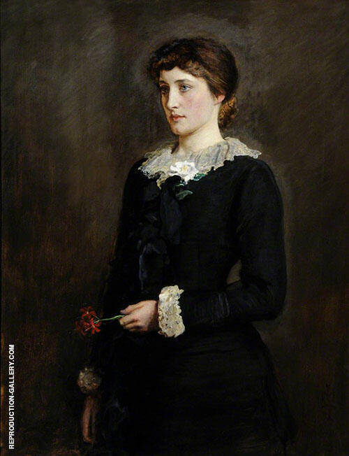 A Jersey Lily 1829 By Sir John Everett Millais