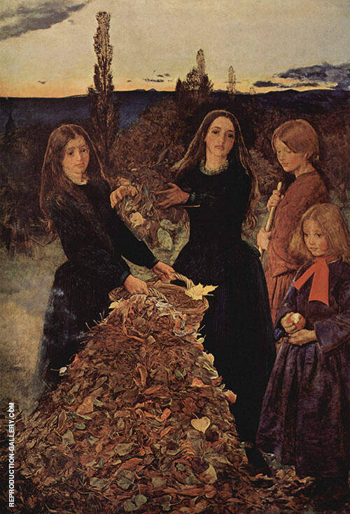 Autumn Leaves c1855 By Sir John Everett Millais
