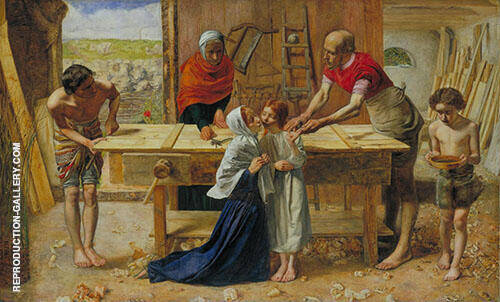 Christ in The House of His Parent c1849 Painting By ...