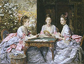Hearts are Trumps 1872 By Sir John Everett Millais