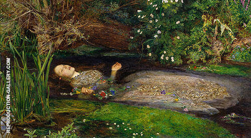 Ophelia 1851 By Sir John Everett Millais