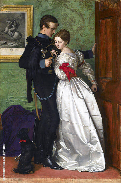 The Black Brunswicker 1860 Painting By Sir John Everett Millais