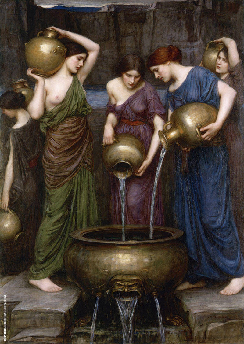 Danaides 1903 Painting By John William Waterhouse - Reproduction Gallery