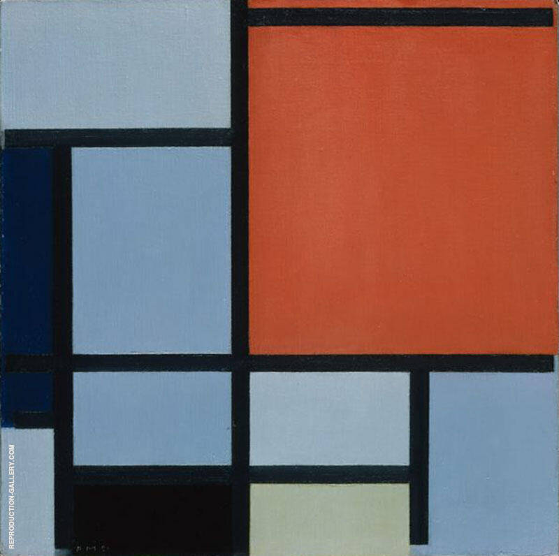 Composition 1921 Painting By Piet Mondrian - Reproduction Gallery