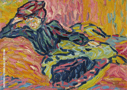 Girl on a Divan Painting By Ernst Kirchner - Reproduction Gallery