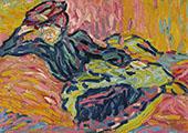 Girl on a Divan By Ernst Kirchner