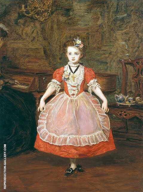 The Minuet 1866 Painting By Sir John Everett Millais