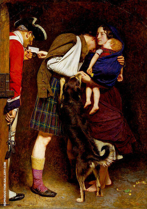 The Order of Release 1746 By Sir John Everett Millais