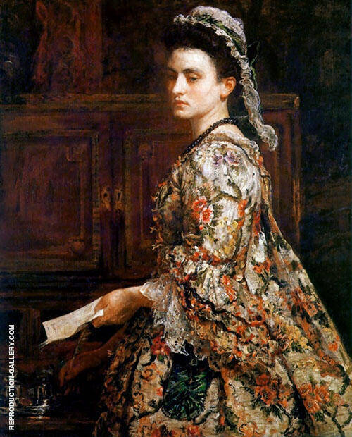 Vanessa 1868 Painting By Sir John Everett Millais - Reproduction Gallery