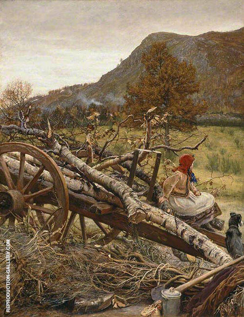 Winter Fuel 1873 By Sir John Everett Millais