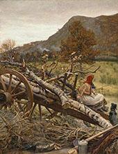 Winter Fuel 1873 By Sir John Everett Millais
