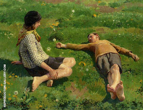 Cornish Children By Harold Harvey