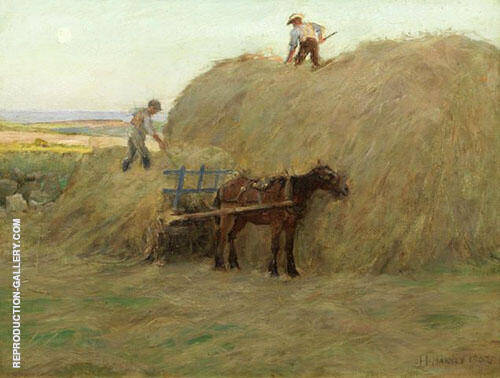 Building The Hayrick By Harold Harvey