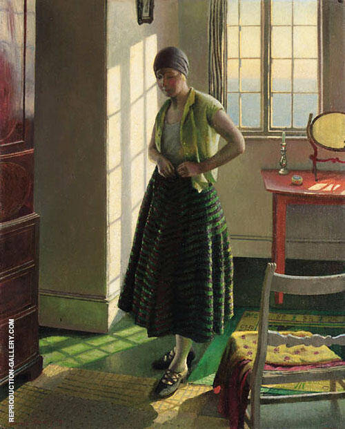 Gertrude in an Interior 1929 By Harold Harvey