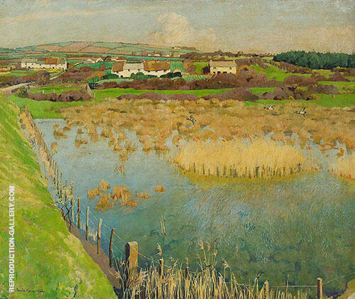 Marsh Landscape By Harold Harvey