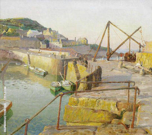 Mousehole By Harold Harvey