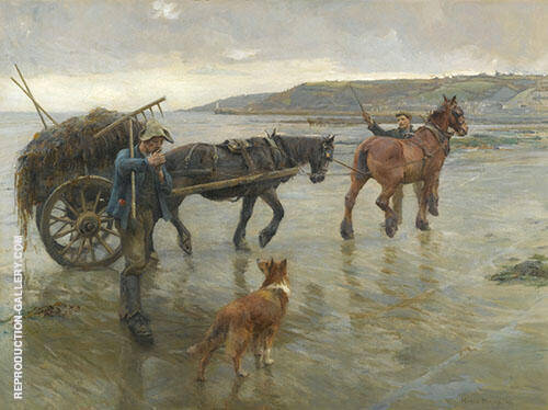 Seaweed Gatherers By Harold Harvey
