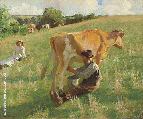 Summer Milking By Harold Harvey