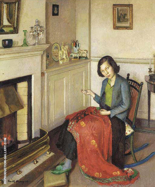 The Red Silk Shawl 1932 By Harold Harvey