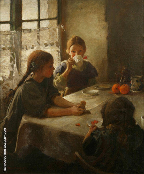 The Tea Party 1912 By Harold Harvey