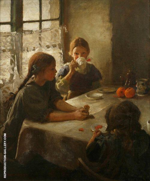 The Tea Party 1912 By Harold Harvey