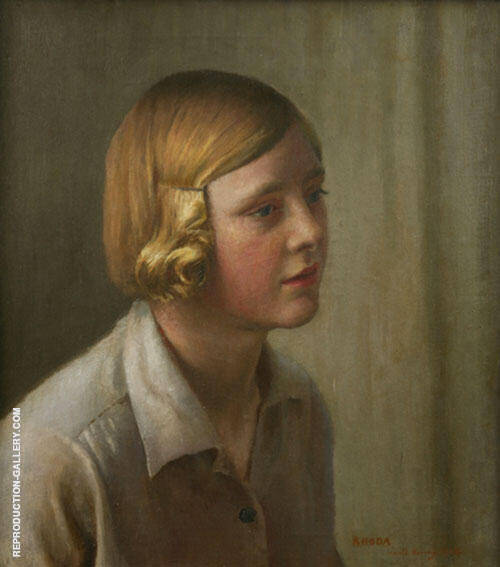 The Artist's Niece 1934 By Harold Harvey