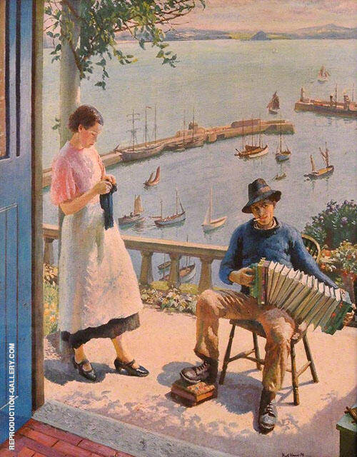 The Blue Door 1934 By Harold Harvey