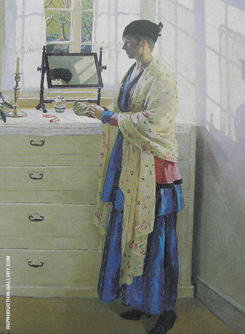 Blue Gown 1917 By Harold Harvey