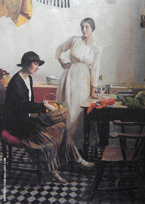 My Kitchen 1923 By Harold Harvey