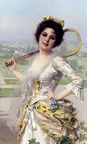 An Elegant Player By Vittorio Matteo Corcos