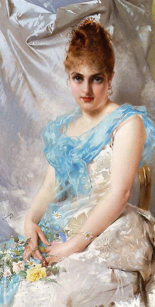 A Spring Beauty 1886 Painting By Vittorio Matteo Corcos
