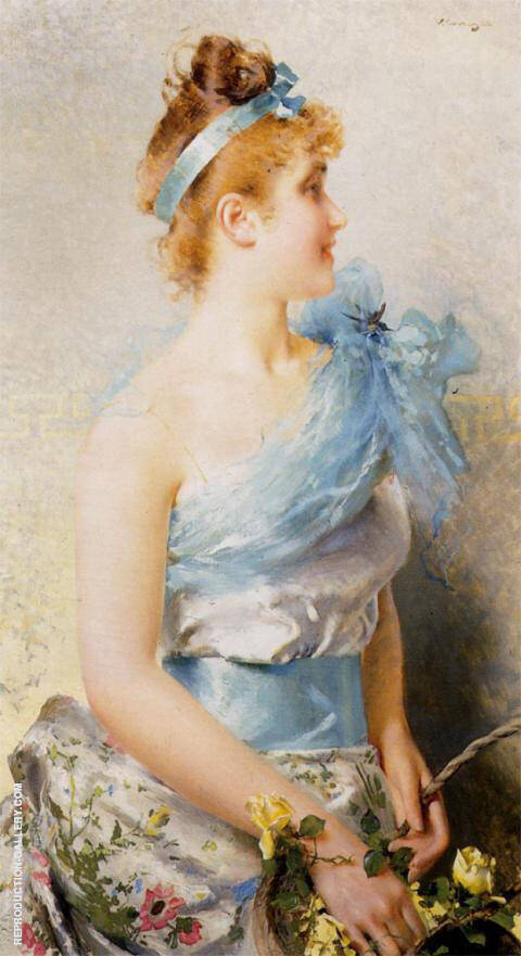 A Spring Beauty 1886 II Painting By Vittorio Matteo Corcos