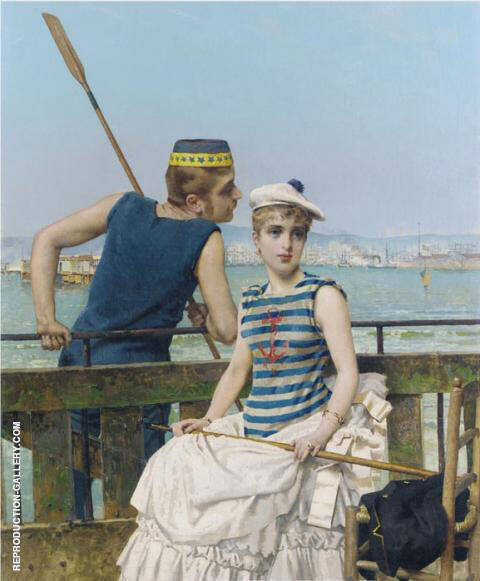 At The Regatta 1889 Painting By Vittorio Matteo Corcos