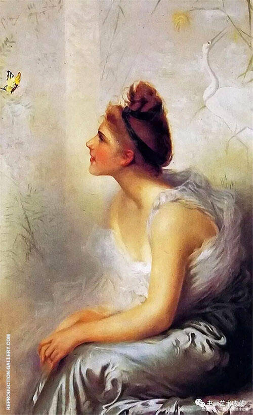 Beauty and The Butterfly By Vittorio Matteo Corcos