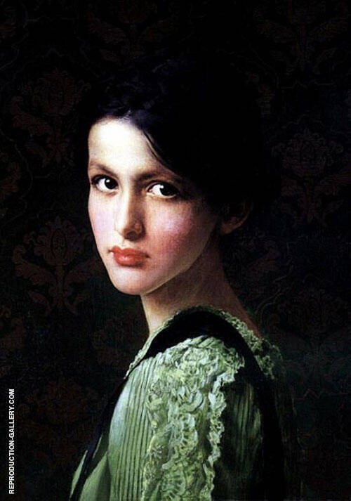 Donna 1900 Painting By Vittorio Matteo Corcos - Reproduction Gallery