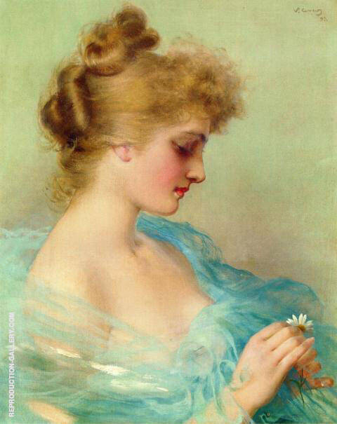He Loves Me He Loves Me Not Painting By Vittorio Matteo Corcos