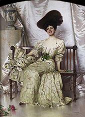 Portrait der Contessa Nerina Pisani Volpi di Misurata 1906 By Vittorio Matteo Corcos