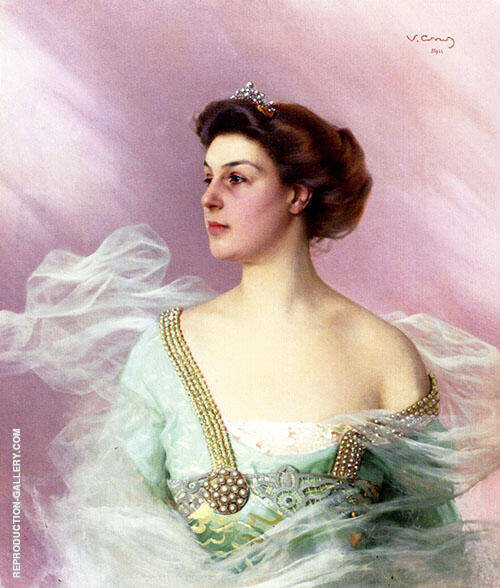 Portrait Of A Lady By Vittorio Matteo Corcos