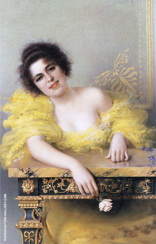 Portrait of a Young Woman By Vittorio Matteo Corcos