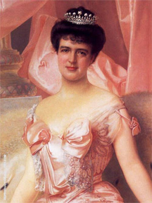 Retrato de Amelia de Orleans By Vittorio Matteo Corcos