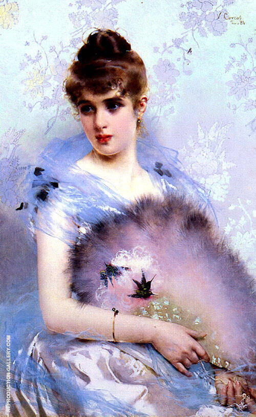 The Featherbed Fan By Vittorio Matteo Corcos