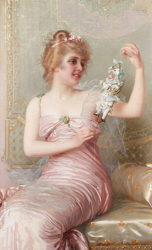 The Plaything Painting By Vittorio Matteo Corcos - Reproduction Gallery