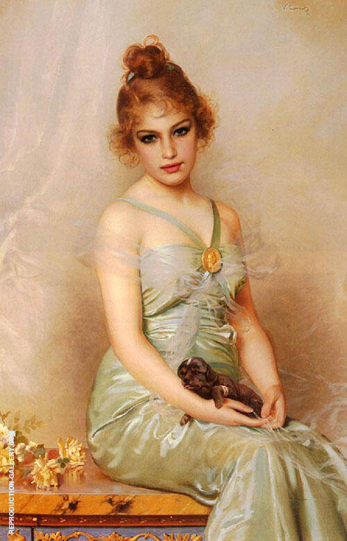 The Wounded Puppy By Vittorio Matteo Corcos