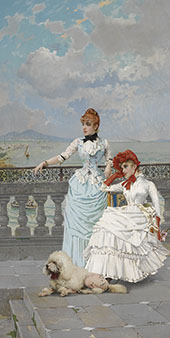 Young Women from Naples Italy By Vittorio Matteo Corcos