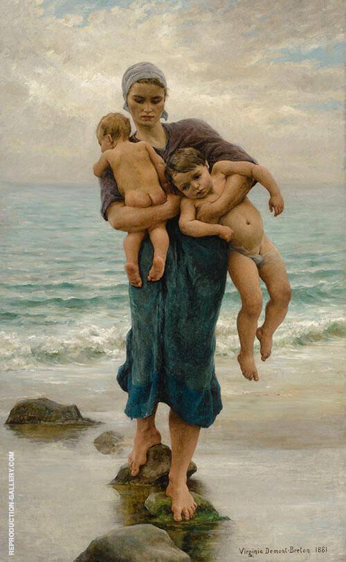 Fisherman's Wife By Virginie Demont Breton